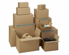 Kartons mit Fixiereinlage