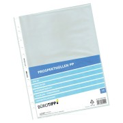Prospekthüllen A4, Standard, oben offen, glasklar, 40my,  100 Stk.