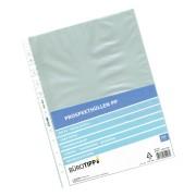 Prospekthüllen A4, Business, oben offen, transparent/genarbt, 50my,  100 Stk.