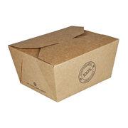 BIO Take-Away Boxen Menüboxen ToGo aus Karton, 13x11x6.4cm, 25 Stk.
