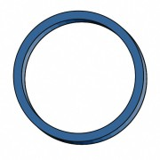 Gummiringe Gummibänder Ø  30mm, 1 mm in blau, ca. 4000 Stk., 1000 gr.- 1 kg.