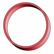 Gummiringe Gummibänder Ø  50mm, 3 mm in rot, ca. 800 Stk., 1000 gr.- 1 kg.
