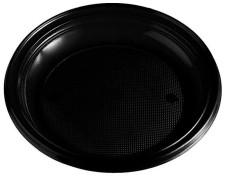 Teller Partyteller schwarz aus PS, rund Ø 22 cm, 10 Stk.
