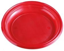 Teller Partyteller rot aus PS, rund Ø 22 cm, 10 Stk.