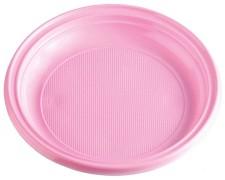 Teller Partyteller rosa aus PS, rund Ø 22 cm, 10 Stk.