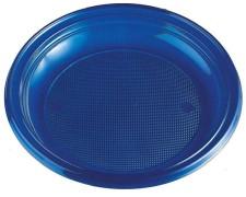 Teller Partyteller blau aus PS, rund Ø 22 cm, 10 Stk.