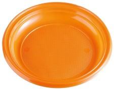 Teller Partyteller orange aus PS, rund Ø 22 cm, 10 Stk.