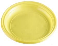 Teller Partyteller gelb aus PS, rund Ø 22 cm, 10 Stk.