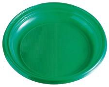 Teller Partyteller grün aus PS, rund Ø 22 cm, 10 Stk.