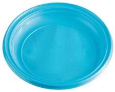 Teller Partyteller hellblau aus PS, rund Ø 22 cm, 10 Stk.