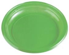 Teller Partyteller gelbgrün aus PS, rund Ø 22 cm, 10 Stk.