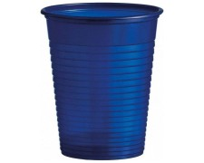 Trinkbecher Partybecher blau 180 ml, aus PS, Ø 70 mm, 10 Stk.