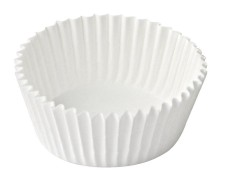 Gebäckkapseln weiß Ø 26 x 16 mm, 1000 Stk.