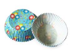 Muffinkapseln Gebäckkapseln Luftballons Ø 50 x 30 mm, 40 Stk.