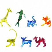 Glasmerker gemischt, 7 Typen, farblich sortiert, 100 Stk.
