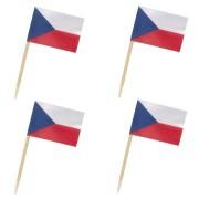 Flaggenpicker Fahnenpicker Deko-Picker Land Tschechien,  50 Stk.