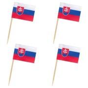 Flaggenpicker Fahnenpicker Deko-Picker Land Slowakei,  50 Stk.