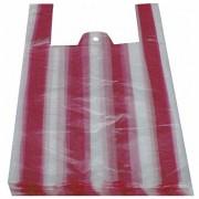 Hemdchentragetaschen HDPE gestreift 250+120x450mm, 100 Stk.