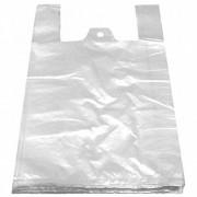 Hemdchentragetaschen HDPE weiß 250+120x470mm, extra stark, 100 Stk.