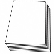 Zuschnitte PP transparent klar, 240 x 360 mm (1/8 Bogen), 2000 Stk.