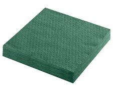 Servietten Prägeservietten 1-lagig, 33 x 33 cm, dunkelgrün, 100 Stk.