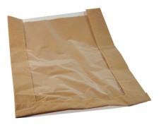 Papierfaltenbeutel für Brotlaib rund 26 + 7 x 40 cm, mit Fenster 19cm, 1000 Stk.