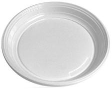 Teller flach, weiß aus PS, rund Ø 20,5 cm,  10 Stk.