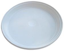 Teller weiß aus PS, rund Ø 22 cm, 100 Stk.