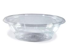Salatschalen rund Ø 17,6 x 4,8 cm klar 500 ml (PET), 50 Stk.