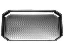 Alu-Catering-Platte, Aluminium-Partyplatte, Servierplatte 375 x 280 mm, 50 Stk.