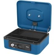 Deluxe Geldkassette mit praktischer Öffnungsfunktion 200mm, blau