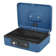 Deluxe Geldkassette mit praktischer Öffnungsfunktion 250mm, blau