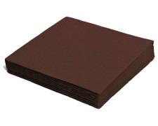Servietten 33 x 33 cm 1/4 -Falz, 2-lagig braun,  50 Stk.