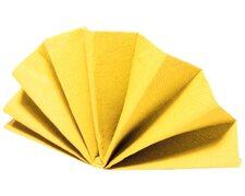 Servietten DekoStar 40 x 40 cm, gelb, 40 Stk.