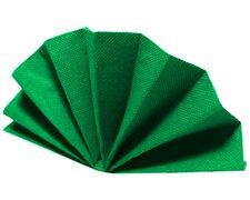Servietten DekoStar 40 x 40 cm, dunkelgrün, 40 Stk.