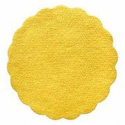 Tassenuntersetzer Glasuntersetzer, Airlaid, Ø 9cm, gelb,  40 Stk.