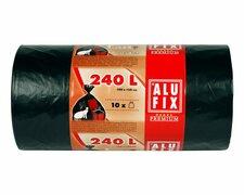 ALUFIX Müllsäcke extra Stark 240 L, HDPE 100x125 cm 35my, schwarz, 10 Stk.