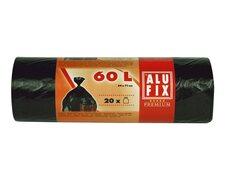 ALUFIX Müllsäcke 60 L, HDPE 64x71 cm 15my, schwarz, 20 Stk.