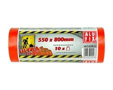 ALUFIX Bauschuttsäcke Schwergut Müllbeutel 60 Liter 550x800mm orange, 10 Stk.