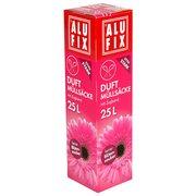 ALUFIX Duft Müllsäcke mit Zugband  25 L, 50x50 cm feiner Blütenzauber, 15 Stk.