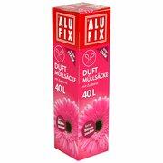 ALUFIX Duft Müllsäcke mit Zugband  40 L, 53x60cm feiner Blütenzauber, 12 Stk.