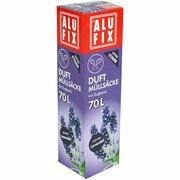 ALUFIX Duft Müllsäcke mit Zugband  70 L, 64x71cm zarter Lavendel, 8 Stk.