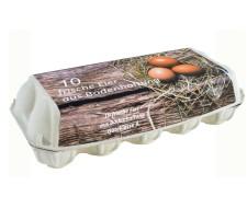 Eierverpackung für 10 Eier, Bodenhaltung, weiß, 210 Stk., geeignet für S, M, L