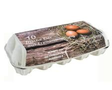 Eierverpackung für 10 Eier, Freilandhaltung, weiß, 154 Stk., für S, M, L