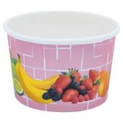 Eisbecher, Pappe rund 100 ml Ø 70mm, Höhe 45mm, Fruchtreigen,  35 Stk.