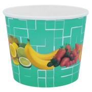 Eisbecher, Pappe rund 500 ml Ø 105mm, Höhe 84mm, Fruchtreigen,  45 Stk.