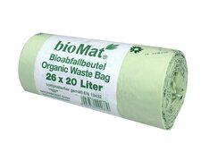BIOMAT kompostierbare Bioabfallbeutel  15L mit Henkel 44x56cm, 26 Stk.