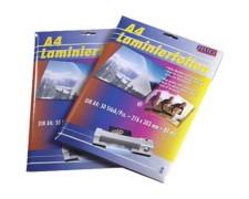 FILUX Laminierfolientaschen A3, 303 x 426mm, 2x 75/80 mic, Hochglanz, 50 Stk.