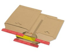 Karton-Versandtasche TP335, 250x350mm, SK, A4+/DHL-Großbrief, braun