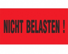 Hinweisetiketten Warnetiketten rot NICHT BELASTEN!, 145x76mm, 1000 Stk.